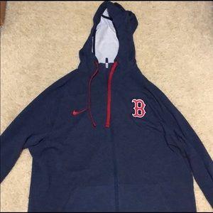 Nike Boston Red Sox Zip Up Hoodie Navy Size Medium